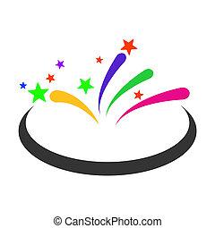 Fireworks Area Raster Icon Flat Illustration