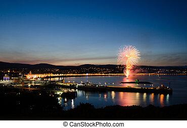 Fireworks at Douglas Bay Isle of Man