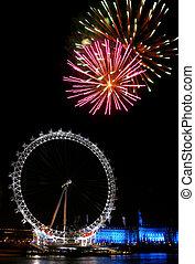 London Eye - Fireworks at London Eye