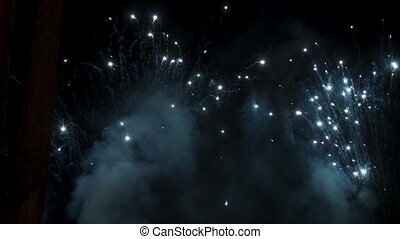 Fireworks at night sky