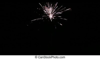 fireworks at the wedding