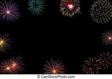 fireworks background with copyspace