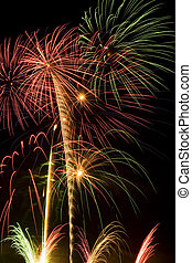 Fireworks - Beautiful fireworks fill the night time sky