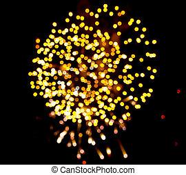 fireworks boke background