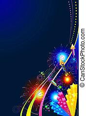 Fireworks celebration background - Hintergrund Feuerwerk