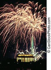 Fireworks Celebration Washington DC Liberty Memorial