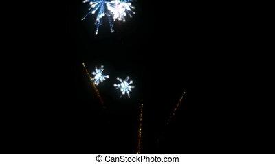 Fireworks. CG. HD