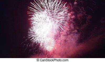fireworks chrysanthemum - firework fireball chrysanthemum...