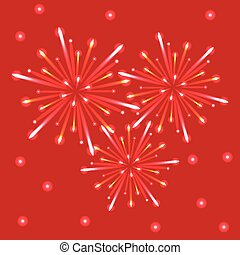 fireworks, cielo, rosso