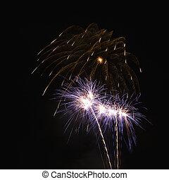 fireworks., coloré
