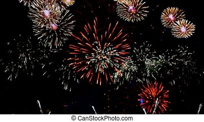 Fireworks colorful Finale