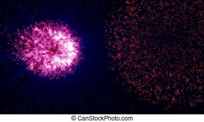 fireworks colorful in sky abstract