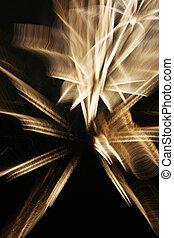 fireworks, con, lento, velocità imposta