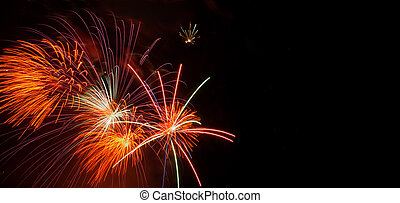 fireworks, copyspace