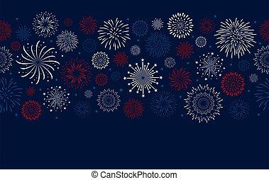 Fireworks design on blue background vector illustration