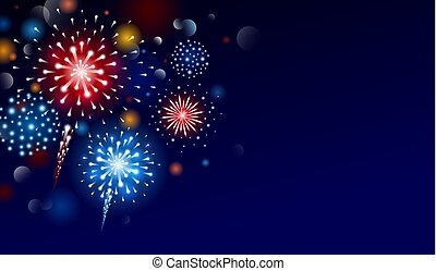 Fireworks design with copy space vector illustration