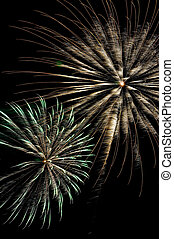Fireworks Display - A fireworks display on the fourth of...