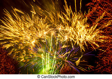 Fireworks Display - A spectacular fireworks display in...