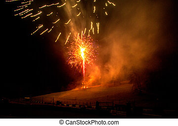 Fireworks Display - A spectacular fireworks display on the...