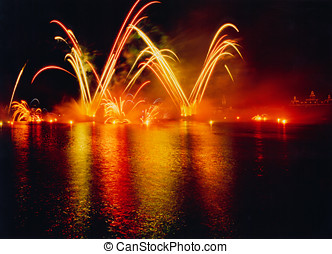 Fireworks Display - At Busch Gardens, Florida