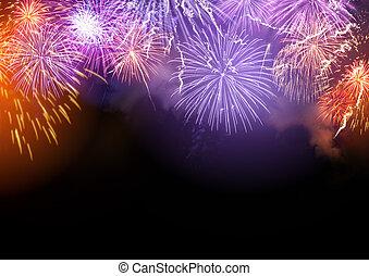 Fireworks Display Background