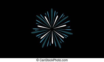 Fireworks display celebration flat design animation icon
