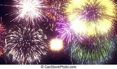 Fireworks Display High Definition Video 4K
