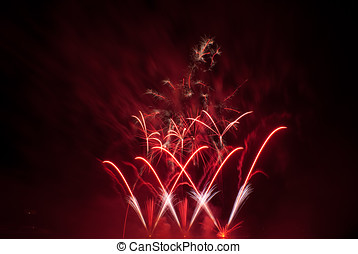 Fireworks display - From Ignis Brunensis show in Brno