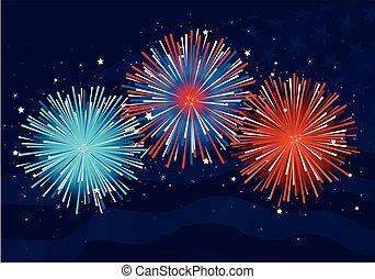 Fireworks  - Illustration of abstract fireworks design