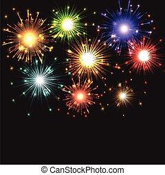 Fireworks exploding - Background of exploding fireworks