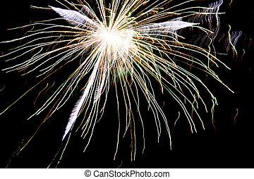 Fireworks Explosion - White fireworks explosion in the dark ...