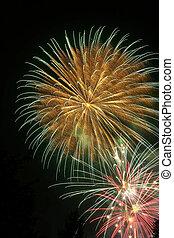 Fireworks - Feuerwerk - colorful Fireworks - buntes...