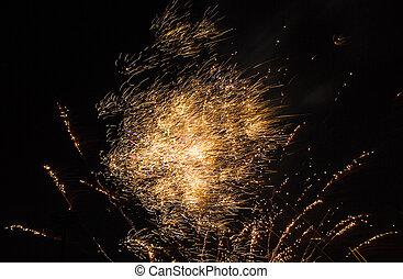 Fireworks Fiery Hail