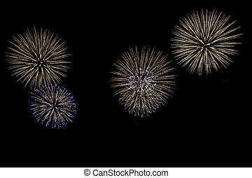 Fireworks for cut out.