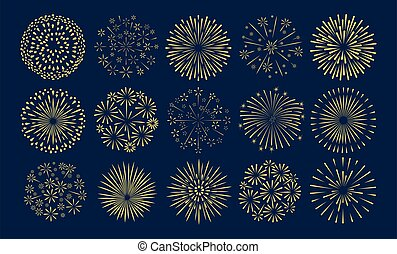 Fireworks golden starburst set