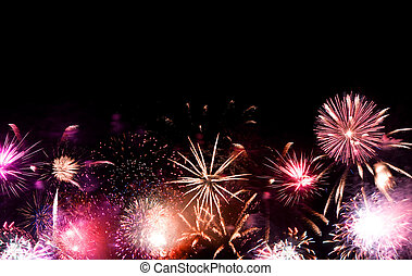 Fireworks Grand Finale - Beautiful fireworks going off with...
