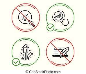 Fireworks, Graph chart and Energy icons set. Copyright ...