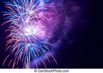 fireworks, hälsning