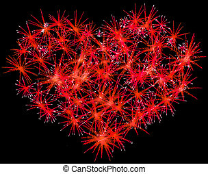 Fireworks heart shape for Valentines Day