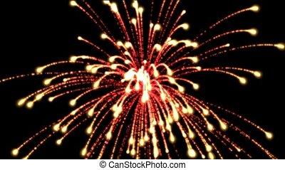 fireworks, holiday, seamless loop