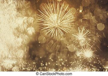 fireworks, hos, nytt år