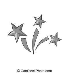 Colorful fireworks icon in black style isolated on white ... Fireworks Icon Iphone