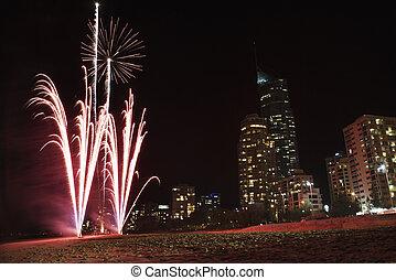 Fireworks in Australia.