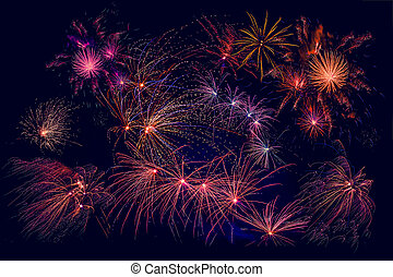 Fireworks in beautiful colors