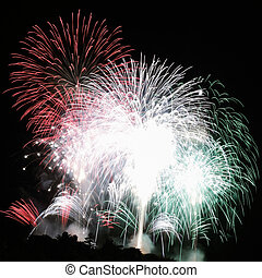 fireworks in colors of Italy