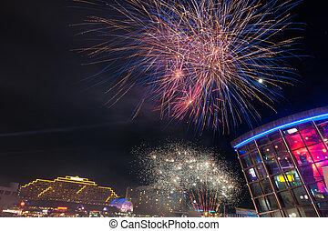 Fireworks in darling harbour