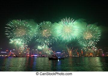 Fireworks in Hong Kong along Chinese New Year 2011 - HONG ...