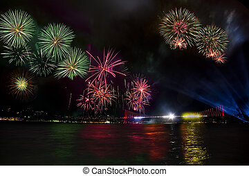 fireworks in istanbul