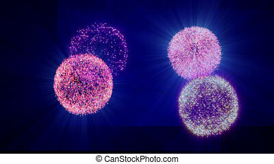 fireworks in sky abstract