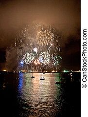 Fireworks in the sea